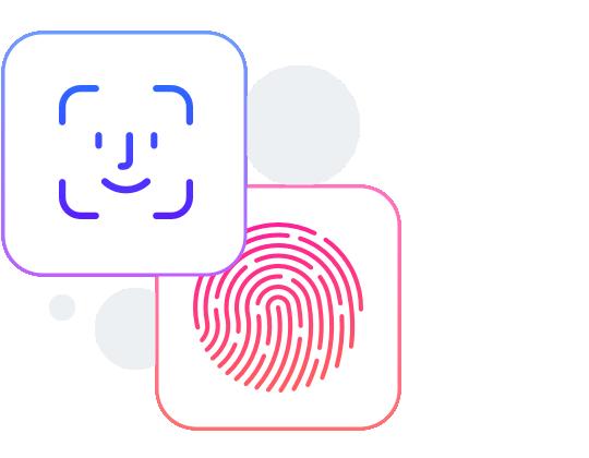 Docyt has facial recognition or fingerprint sign in